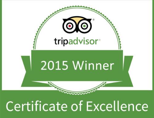 Awarded TripAdvisor Certificate of Excellence
